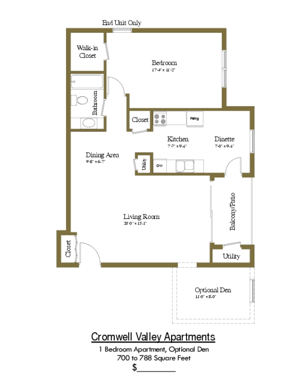 Cromwell Valley 1 Bedroom Apartment