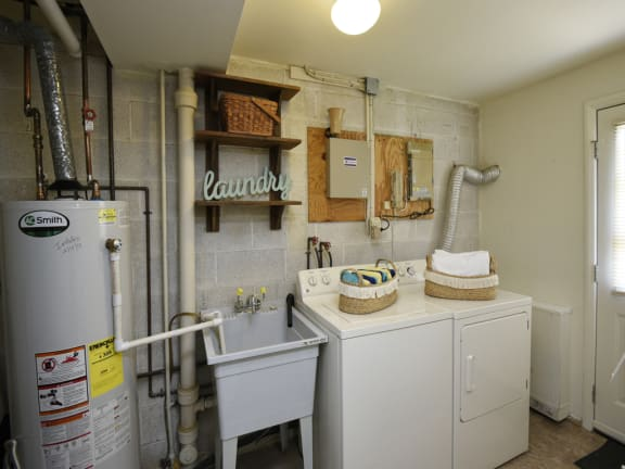 Washer and dryer in each Kingston Townhome
