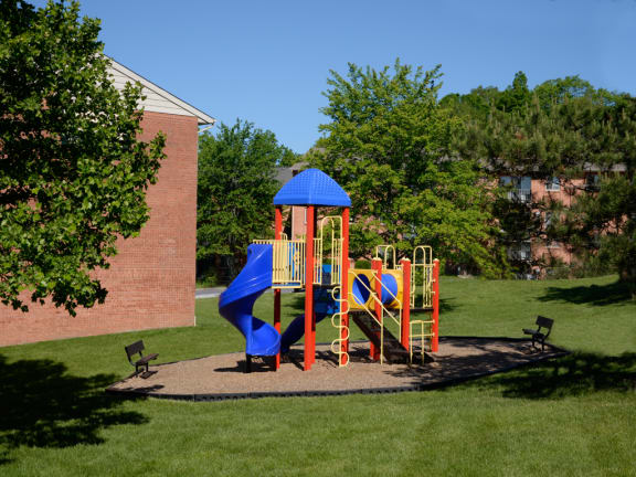 New playground at Lawyers Hill Apartments