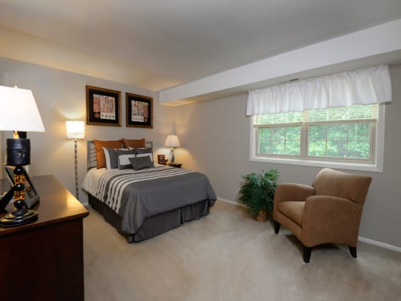 Plush wall to wall carpeting in each room at Liberty Gardens Apartments