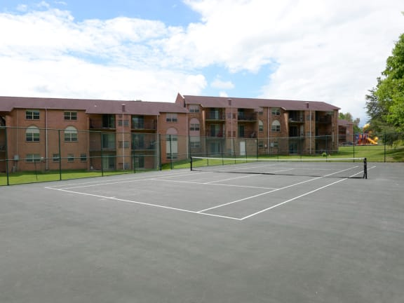 Tennis Court at Liberty Gardens Apartments and Townhomes