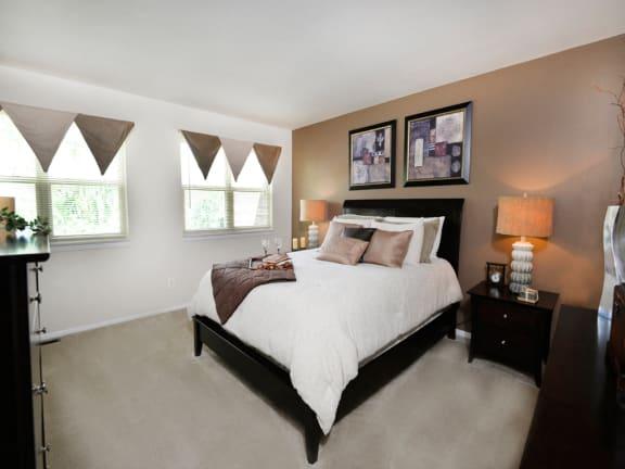 Plsuh carpeting in each room at McDonogh Village Apartments