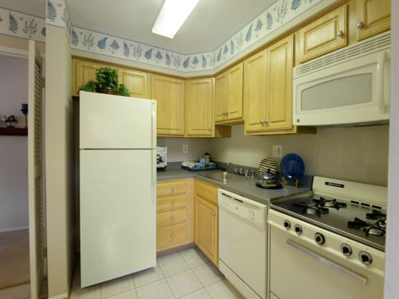 Full equipped kitchen at Painters Mill Apartments
