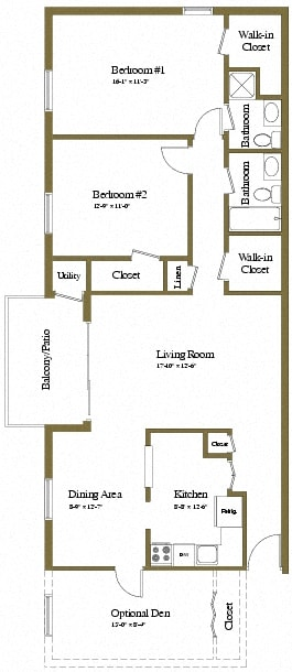 Floor Plan  2 Bedrooms 2 Bath