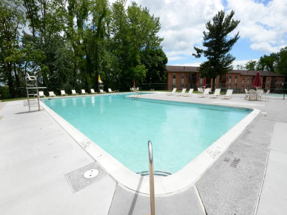 Private swimming pool at Painters Mill Apartments