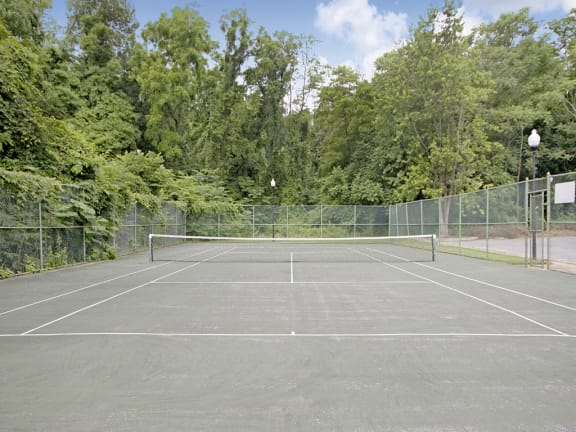 Tennis Court at Painters Mill Apartments