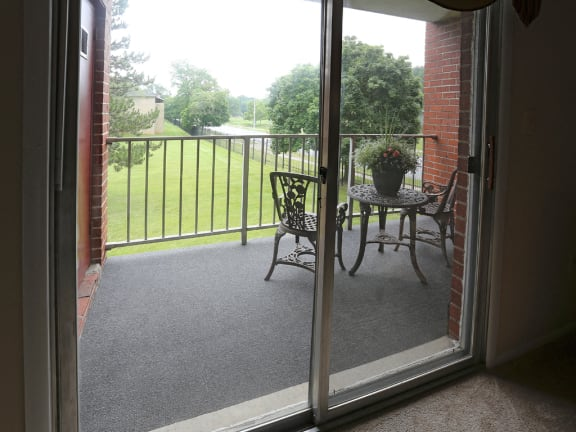 Huge, private balcony or patio at Rockdale Gardens Apartments