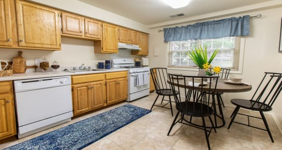Large eat in kitchen with plenty of counter space at Somerset Woods Townhomes
