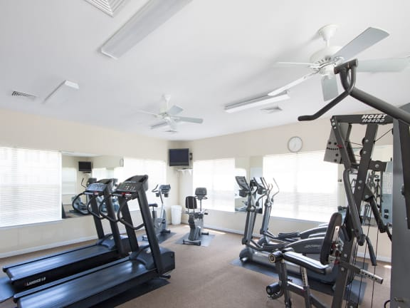 Fully equipped gym and fitness center at The Summit