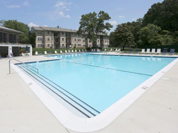 Olympic Size Swimming Pool at Woodridge Apartments, 3901 Noyes Circle, MD 21133