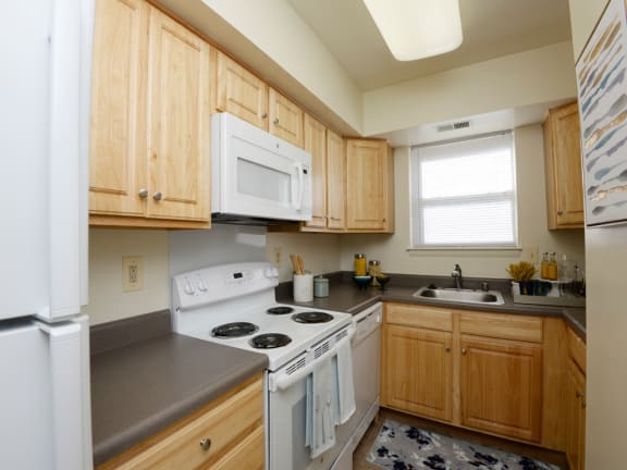 Modern Kitchen With Custom Cabinet at Woodsdale Apartments, Abingdon