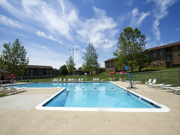 Poolside Dining Tables at Woodsdale Apartments, 102 Waldon Road, D, Maryland