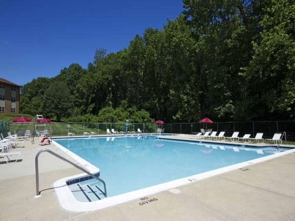 Sparkling Swimming Pool at Woodsdale Apartments, Maryland, 21009