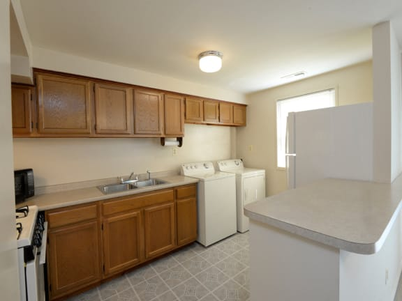 Washer and dryer hookups in every at Yorktowne Townhome