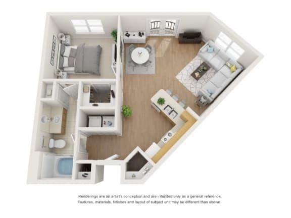 Floor Plan  Hawthorn 3D Floor Plan at Marquette at Piney Point, Houston, 77063