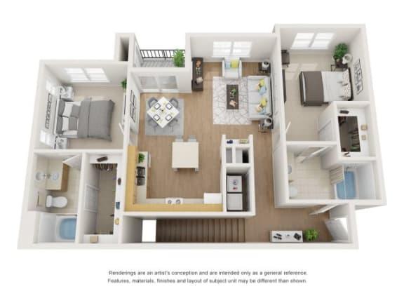 Floor Plan  Magnolia 3D Floor Plan at Marquette at Piney Point, Houston, 77063
