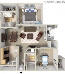 Floor Plan  Rapallo Apartments Milano 2 bedroom floor plan
