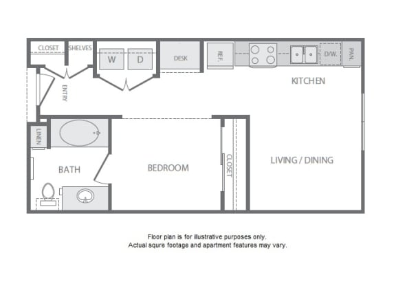Floor Plan  A1 Floorplan at Windsor South Lamar