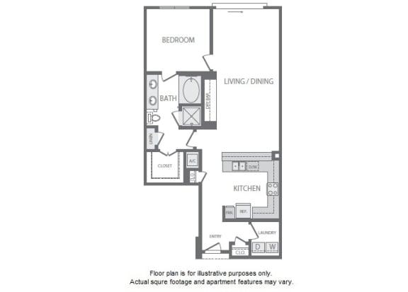 Floor Plan  A13 Floorplan at Windsor South Lamar