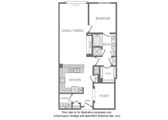 Floor Plan  A15 Floorplan at Windsor South Lamar