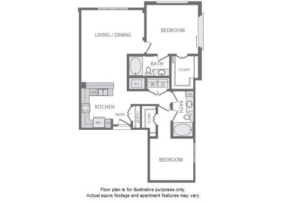 Floor Plan  B5 Floorplan at Windsor South Lamar