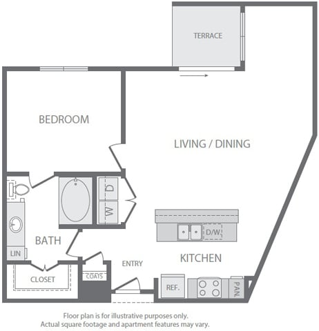 Floor Plan  A11 Floorplan at Windsor South Lamar, Austin