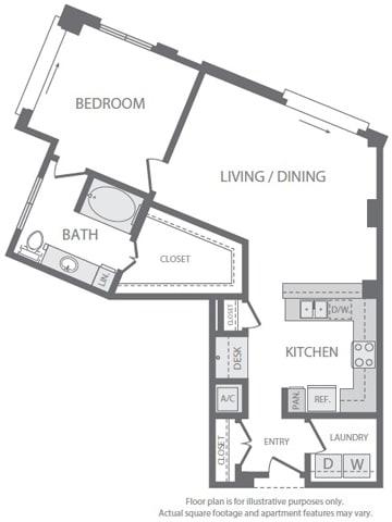 Floor Plan  A12 Floorplan at Windsor South Lamar, Austin