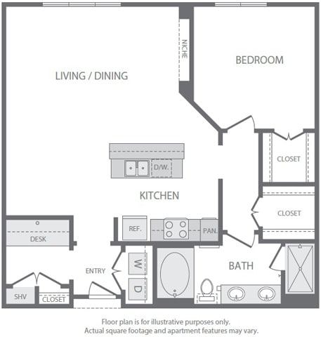Floor Plan  A14 Floorplan at Windsor South Lamar, Austin