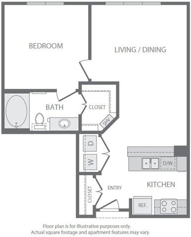 Floor Plan  A2 Floorplan at Windsor South Lamar, Austin