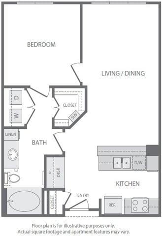 Floor Plan  A3 Floorplan at Windsor South Lamar