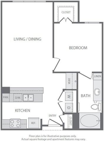 Floor Plan  A4 Floorplan at Windsor South Lamar, Austin