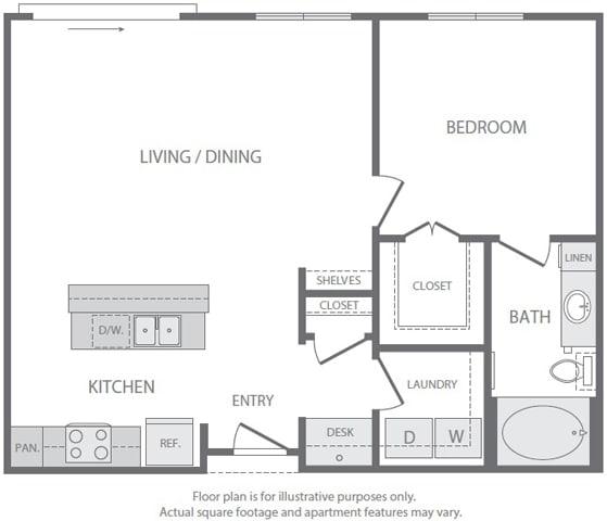 Floor Plan  A6 Floorplan at Windsor South Lamar, Austin