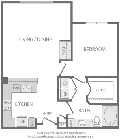 Floor Plan  A7 Floorplan at Windsor South Lamar, Austin