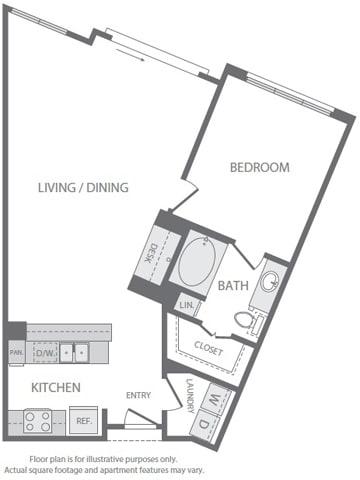 Floor Plan  A9 Floorplan at Windsor South Lamar, Austin