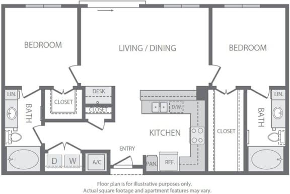 Floor Plan  B1 Floorplan at Windsor South Lamar, Austin