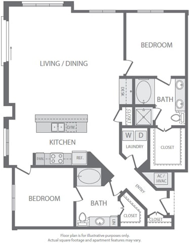 Floor Plan  B10 Floorplan at Windsor South Lamar, Austin