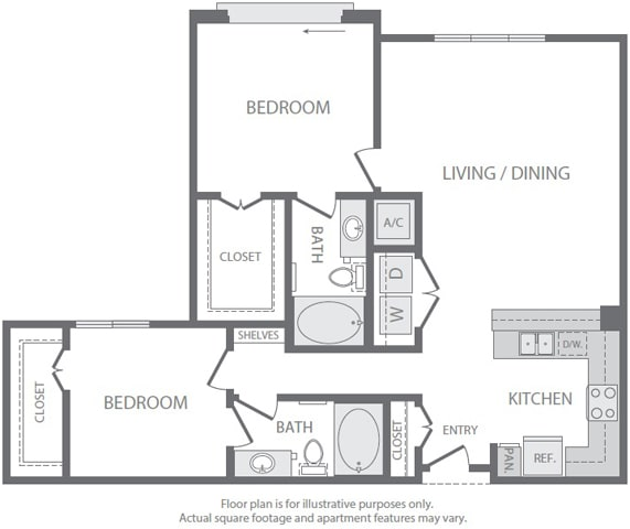 B4 Floorplan at Windsor South Lamar, Austin