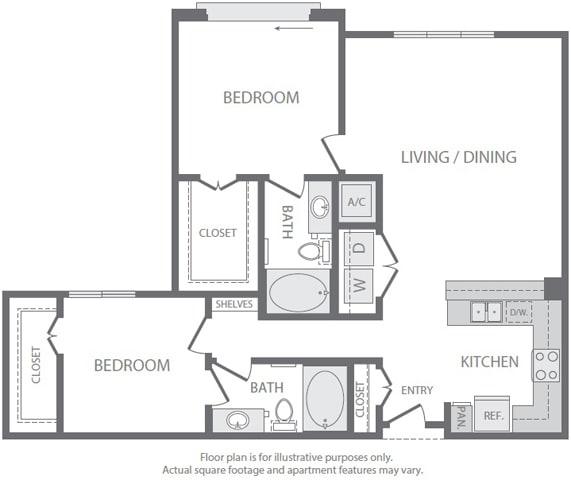 Floor Plan  B4 Floorplan at Windsor South Lamar, Austin