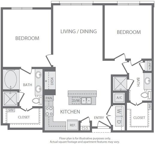 Floor Plan  at Windsor South Lamar, Austin