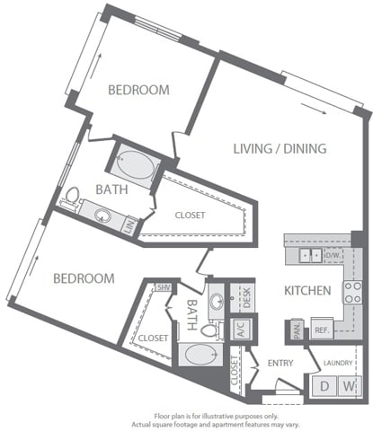 Floor Plan  B7 Floorplan at Windsor South Lamar, Austin