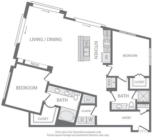 Floor Plan  B9 Floorplan at Windsor South Lamar