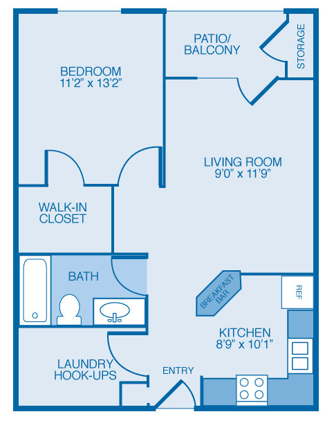 Auberndale Floor Plan at Maple Brook Apartments, Louisville, KY, 40241