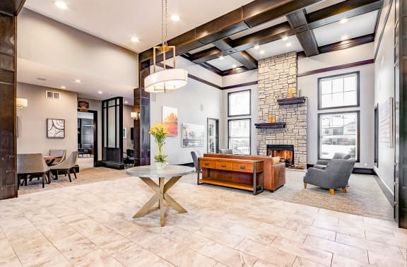 10,000 Sq Ft Clubhouse with Resident Lounge at Main Street Village Apartments, Granger, IN, 46530
