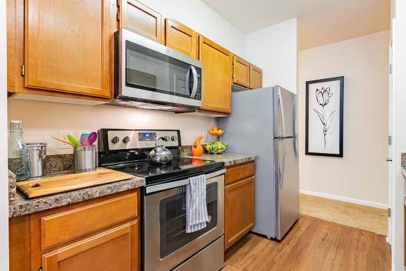 Black, White Or Stainless Steel Appliances at Main Street Village Apartments, Indiana