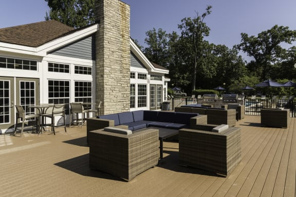 Outdoor Lounge at Fairlane Woods Apartments, Michigan