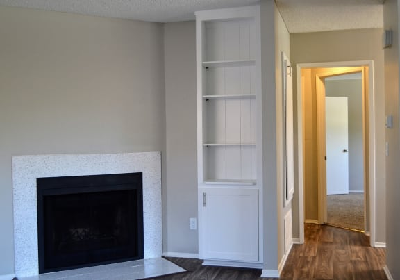 Living Room Remodel With Fireplace at Canyon Villa Apartment Homes, Chula Vista, CA, 91910