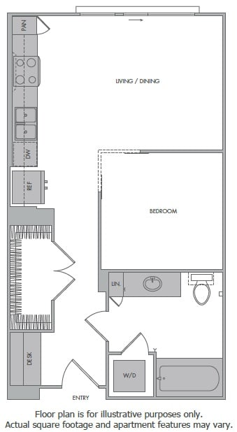 Floor Plan  C Floorplan at 1000 Grand by Windsor