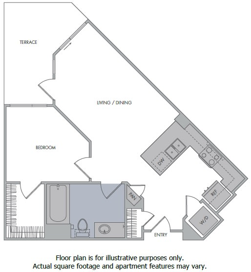 Floor Plan  D Floorplan at 1000 Grand by Windsor