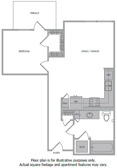 Floor Plan  E Floorplan at 1000 Grand by Windsor