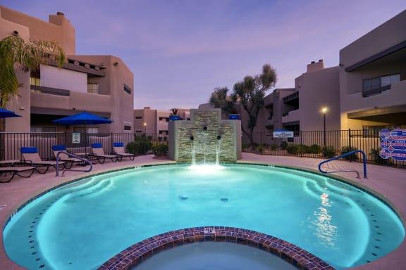 Turquoise Swimming Pool at Scottsdale Horizon, Scottsdale, AZ, 85260